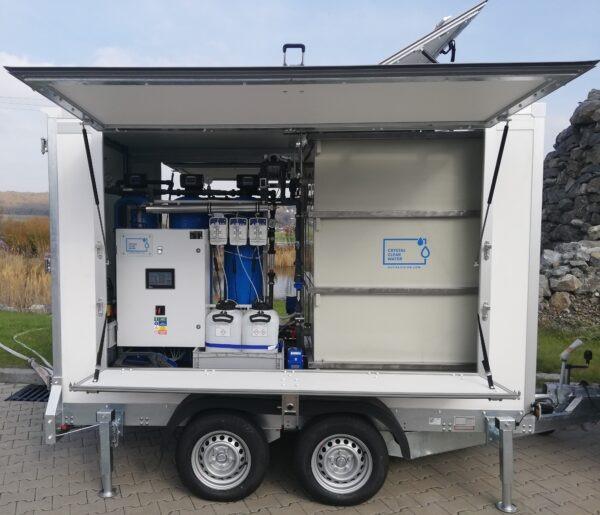 Vozíková mobilní úpravna vody | HUTIRA