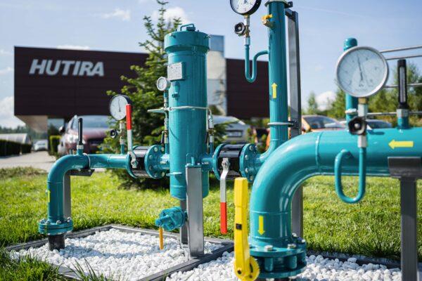 Areál společnosti HUTIRA – BRNO vPopůvkách zdobí nová regulační stanice